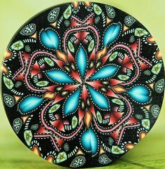 Kaleidoscope Polymer Clay Cane 'Starflower' by ikandiclay on Etsy, $15.00