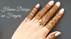 Finger Mehndi Design : Finger mehndi design beautiful ever videos nd movies