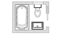5x5 Small Bathroom Floor Plans Baths Pinterest Small