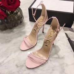 Gucci woman shoes elegant ankle strap high heels