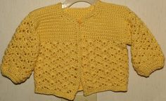 Crochet Baby Sweater size 912 months Soft Buttery by BlissfulFiber, $18.50