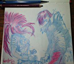 Iori e Leona finalizados  #desenho #sketch #sketchbook #thekingoffighters #iori #leona #blue #red #instaartist #instaart #artist #art #arte #anime #fatalfury #draw #drawing #artwork #pencil