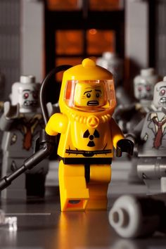 Zombie attack on Lego man!!
