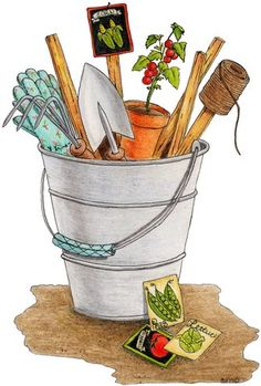 Gardening http://www.pinterest.com/mscrappy123/vintage-images/