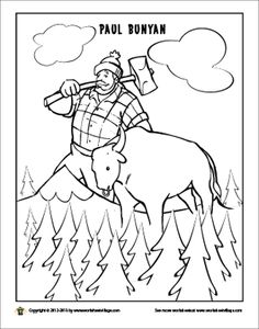 free paul bunyan coloring pages - photo#1