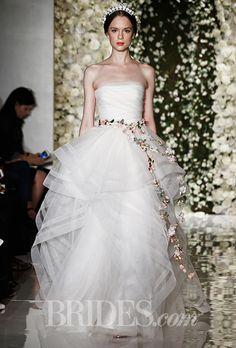 Brides: Reem Acra Wedding Dresses Fall 2015 Bridal Runway Shows Brides.com | Wedding Dresses Style