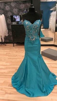 New Prom Gowns,Charming Evening Dress, Deep Turquoise Sweetheart