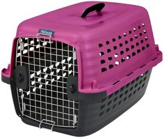 Petmate Compass Fashion Dog Kennel Carrier - Pink - Let your pet travel in style and comfort with this made-in-the-USA carrier that meets both IATA and USDA standards.
