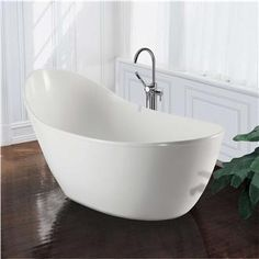 Merveilleux Contemporary Double Ended 67 Inch Acrylic Pedestal Bathtub | Overstock.com  Shopping   The Best Deals On Soaking Tubs | Decor That Has Wow Factor |  Pinterest ...