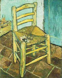 Стул Ван Гога и его трубка. Арль, декабрь 1890. Холст, масло, 93х74. Национальная Лондонская Галерея