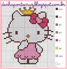 Dinha Ponto Cruz: Hello Kitty ponto cruz                                                                                                                                                     Mais