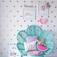 Nursery room - Polka Dots (4cm) - Metallic Gold