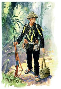 Guerrillero del viet-min by Marek Szyszko, pin by Paolo Marzioli Vietnam Protests, Vietnam War, Military Gear, Military History, Military Uniforms, First Indochina War, Good Morning Vietnam, Military Drawings, Vietnam History