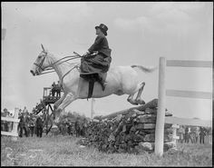Great shot for the era.  Millwood Hunt horse show - Framingham, horse jumping by Boston Public Library, via Flickr