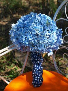Bouquet novia azul.hortensias gallegas