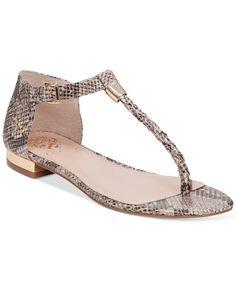 baaa3318bdd7 Vince Camuto Halana Thong Flat Sandals Shoes - Sandals   Flip Flops - Macy s