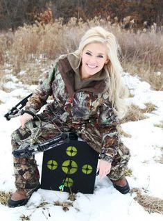 Senior Portrait / Photo / Picture Idea - Girls - Hunting - Archery - Bow