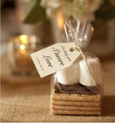 Smore kits for guests for firepit