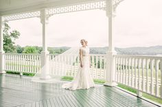 This view is gorgeous. We love the idea of a small intimate wedding on this balcony. Click the link to learn more about Whitestone Country Inn.   Image Credit: Red Boat Photography