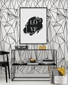 Minimalistic Stripe Removable Wallpaper / by ThinkNoirWallpaper