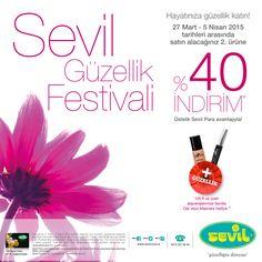 Tüm makyaj, parfüm ve cilt bakımı ürünlerinde 2. ürüne %40 indirim #MarmaraPark Sevil'de.
