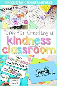 """Kindness Calendars are a wonderful way to encourage intentional acts of kindness. Kids will enjoy the challenge of completing the acts of kindness and will grow socially and emotionally, while others will appreciate the kind gestures. Check them out as part of the social-emotional learning resource """"Kindness Classroom"""" that includes more tools for building kindness into your classroom! #kindness #socialemotionallearning #kindnessclassroom #kindnessactivities #charactereducation"""