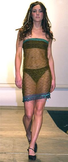 2002. Who's that girl? It's widely believed that Prince William first laid eyes on young Kate Middleton -- curvy in a see-through knitted mesh slip and bikini -- when she walked in a charity fashion show at St. Andrew's University. In 2011, the mesh slip sold at auction for 125,871.