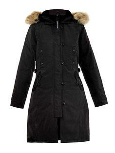 Canada Goose parka sale fake - Nina Dobrev and CANADA GOOSE-Kensington Fur-trimmed Down Parka ...