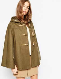 Gloverall Cape in Olive