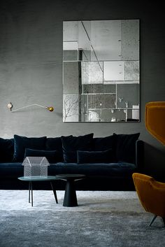 Modern Moody Living Room | Modern Living Room Inspiration. Interior Design. Moody #livingroom #moderndecor #interiordesign