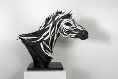 Los neumáticos usados de Yong Ho Ji. Esculturas impresionantes.