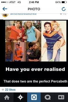 OMG THEY ARE A PERFECT PERCABETH!