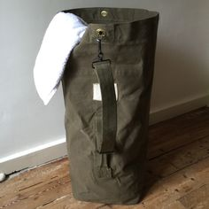 A personal favorite from my Etsy shop https://www.etsy.com/listing/228017615/1950s-army-kit-bag-from-the-french