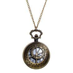 Steampunk Chronometrical Gauge Cutwork Fob Watch (Antique Gold)