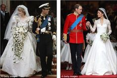 How Kate and William' Royal Wedding compares with Charles and Diana's big day ~