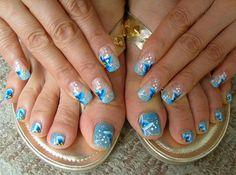 Abstract : Cute Nail Designs For Short Nails - Beautiful Toe Nail Art Designs Nail Art Designs, Nail Designs Pictures, Nail Art Pictures, Toe Nail Designs, Nail Polish Designs, Acrylic Nail Designs, Acrylic Nails, Pedicure Nail Art, Toe Nail Art