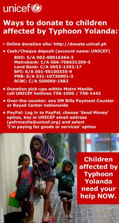 As number of children affected by Super Typhoon Haiyan rises to 4 million, UNICEF steps up emergency response