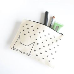 Cat pouch  organic cotton by PetiteMila on Etsy, €13.00
