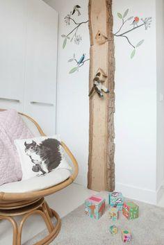 Inspiración: árbol en la habitación infantil