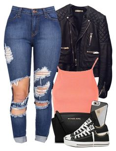 """""""V.XXXI.MMXVI"""" by justice-ellis ❤ liked on Polyvore featuring Balenciaga, Topshop, Casetify, MICHAEL Michael Kors and Converse"""