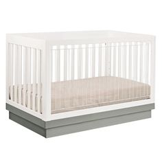 Peekaboo! The Babyletto Harlow 3-in-1 Crib has acrylic slats, so you can snoop on your angel while she's taking a snooze.