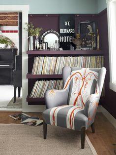 Bitchin' chair, bitchin' vinyl collection.