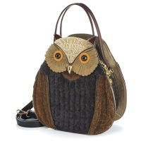 Textured Owl Bag