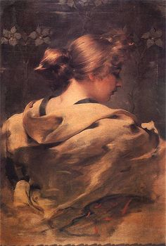 Franciszek Zmurko - Portrait of a young woman 1896