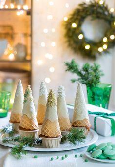 Recette de Noël : une forêt comestible sur des muffins ! - Xmas recipes - Marie Claire Idées