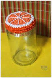 Resultado de imagen para frascos tapa tejida