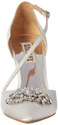 55c223118429 Badgley Mischka Womens Palma Pump White Satin 8 M US   Check this awesome  product by
