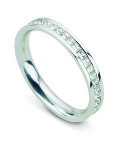 CEPHEUS Princess cut Full Eternity Ring #DiamondRing #PrincessCut