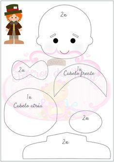 Cris Silva Felt Doll Patterns, Felt Crafts Patterns, Primitive Doll Patterns, Paper Piecing Patterns, Sock Dolls, Felt Dolls, Rag Dolls, Crochet Dolls, Needle Felted Animals