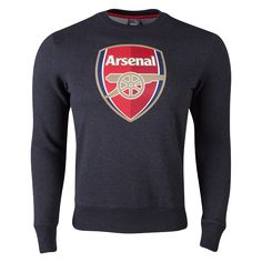 Arsenal Crew Sweatshirt - WorldSoccershop.com | WORLDSOCCERSHOP.COM #BritishPremierLeague #Soccer #Apparel #Athletes #Training #Jerseys